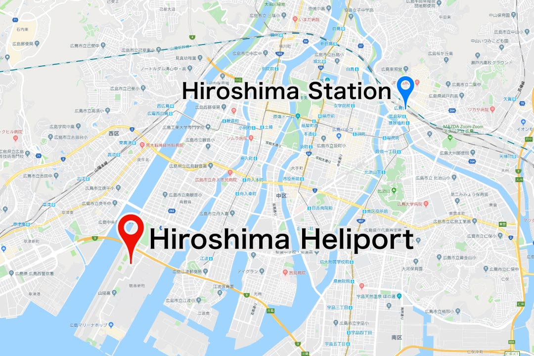 hiroshima_heliport access map