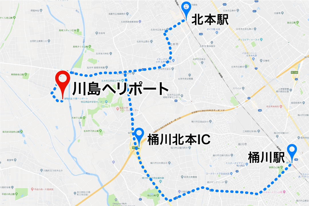 kawajima_heliport access map