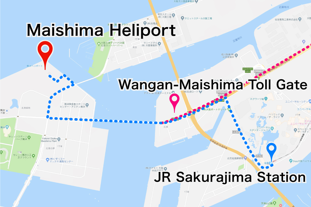 maishima_heliport access map
