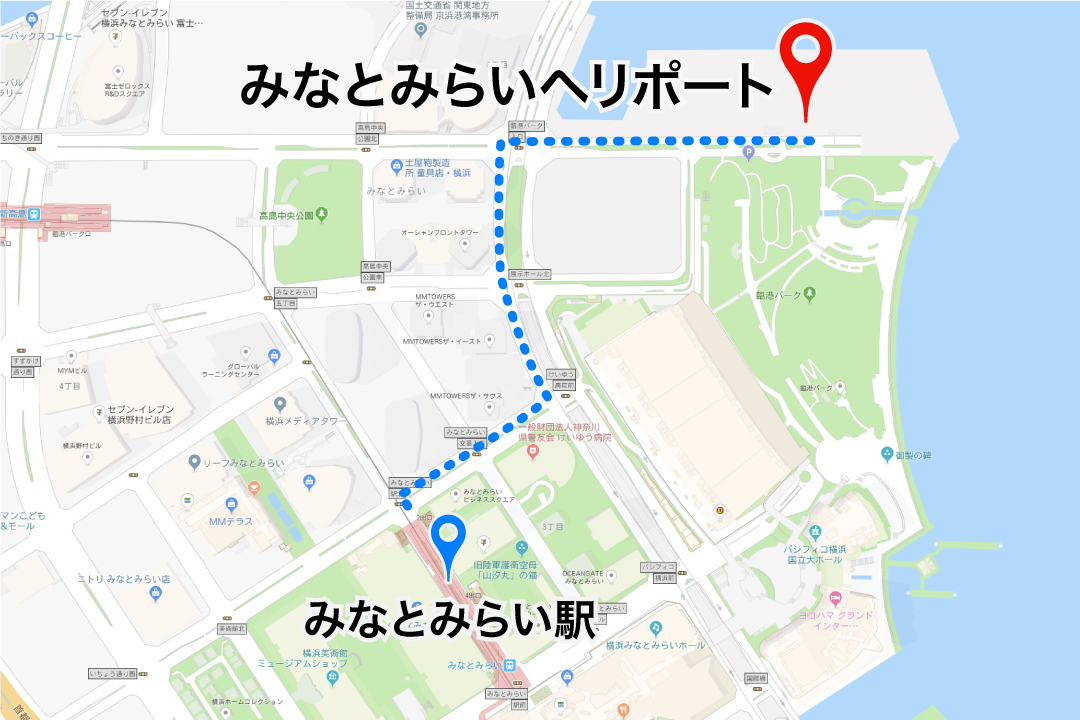 minatomirai_heliport access map