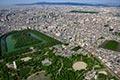 セスナで上空から見た仁徳天皇陵古墳
