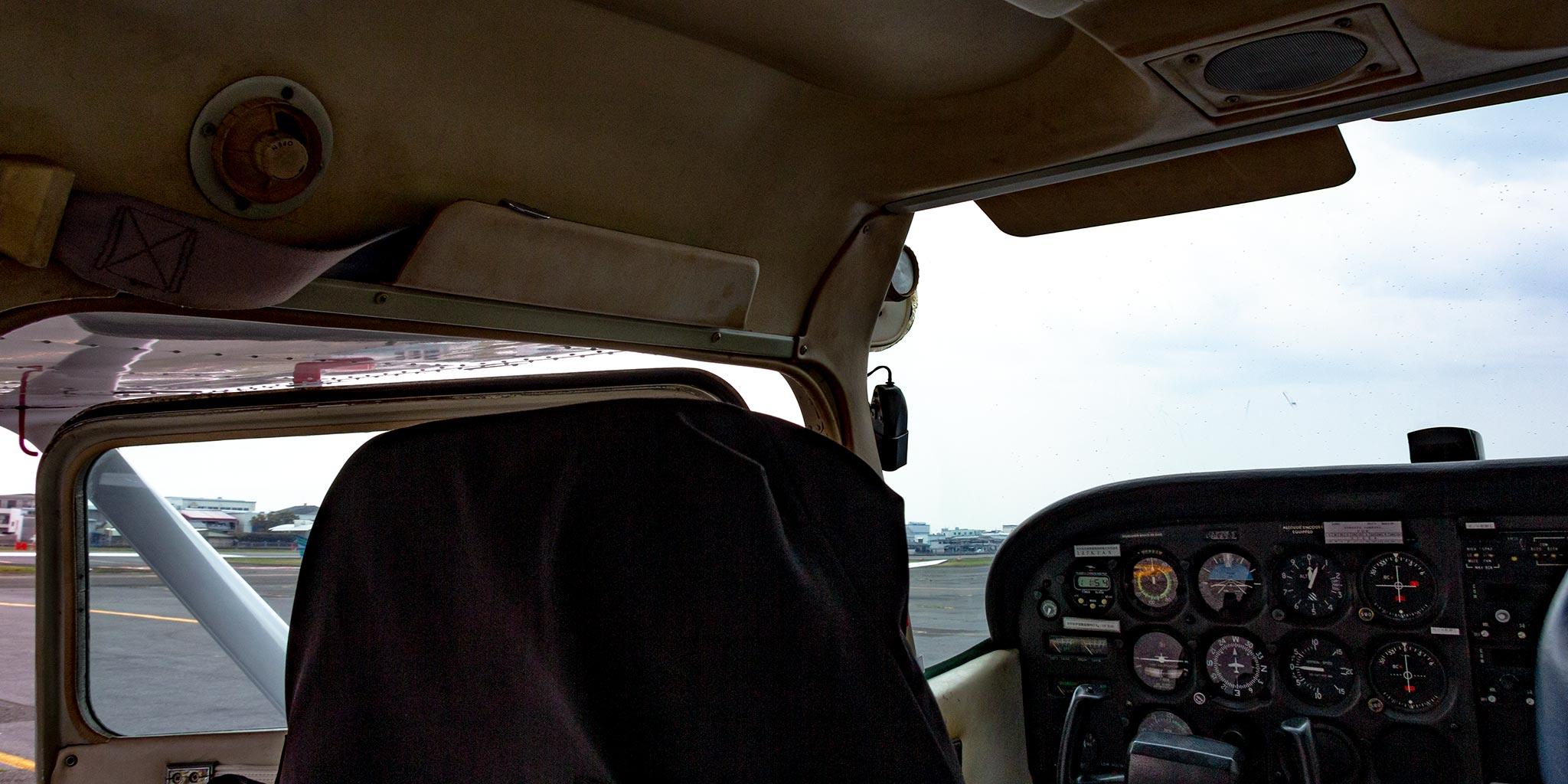 セスナの機内