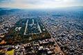 セスナで上空から見た京都御所