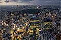 渋谷上空からの夜景