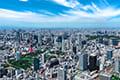 ヘリコプターで東京上空をフライトして見える芝公園