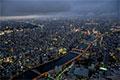 隅田川上空からの夜景