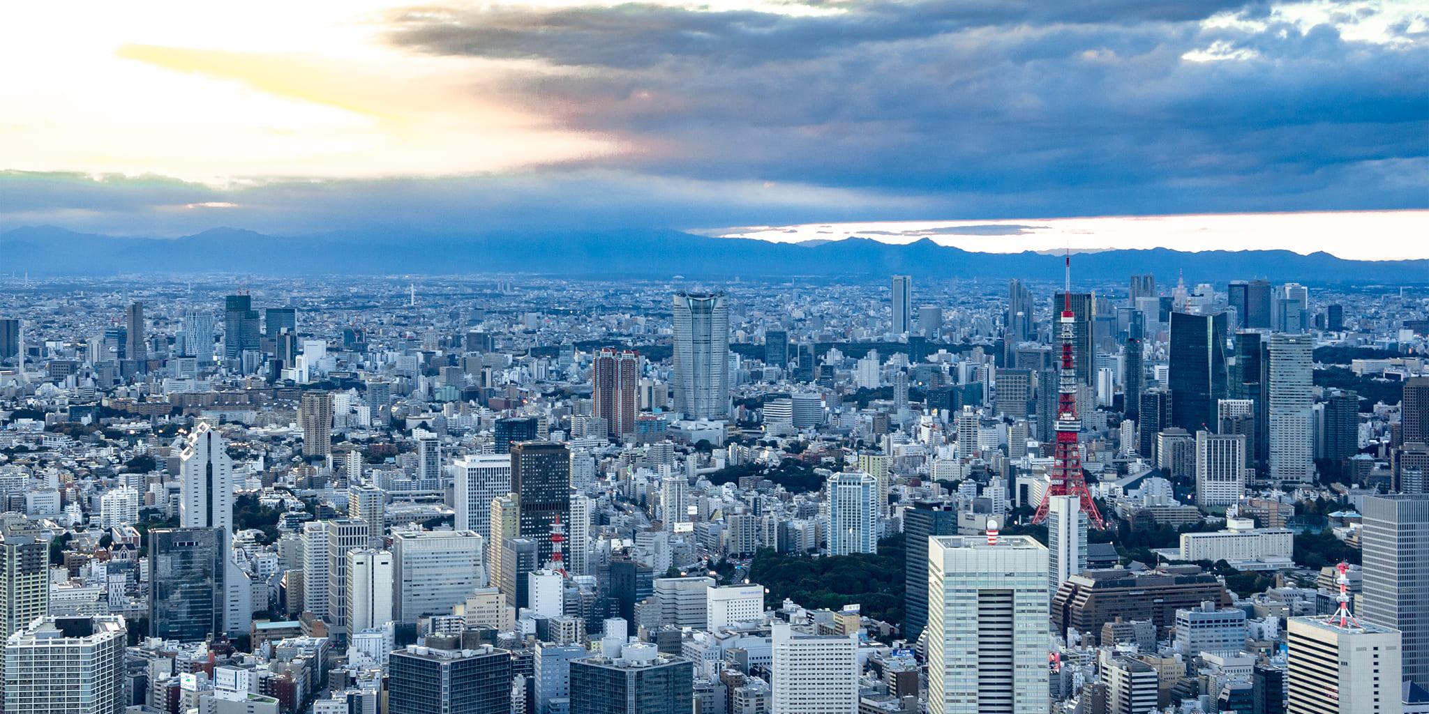 ヘリコプターで東京上空をフライトして見える芝浦