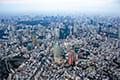 ヘリコプターで東京上空をフライトして見える六本木