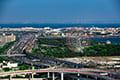 ヘリコプターで東京上空をフライトして見える葛西臨海公園